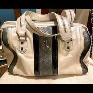 L.A.M.B frosted Love Capri speedy  bag